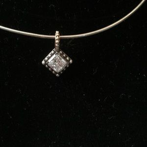 Jewelry - 14k gold and Sterling & Crystal Pendent